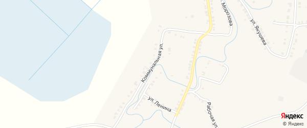 Коммунальная улица на карте Верхнего Уфалея с номерами домов