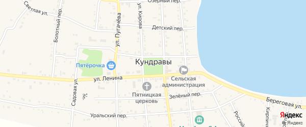 Тупик ТДШИ на карте села Кундрав с номерами домов