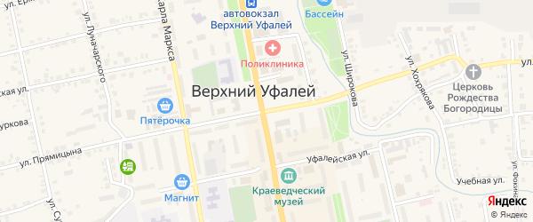 Улица Прямицына на карте Верхнего Уфалея с номерами домов