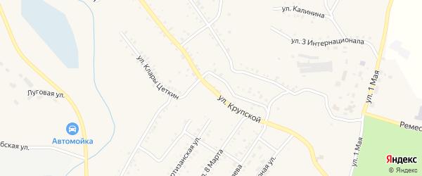 Улица Крупской на карте Карабаша с номерами домов