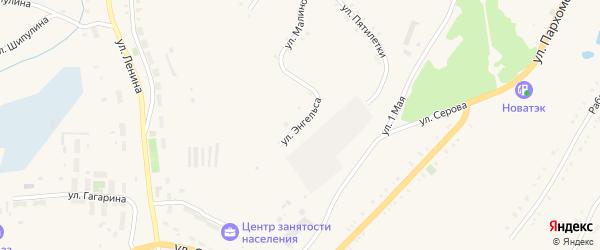 Улица Энгельса на карте Карабаша с номерами домов