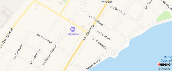 Улица Ленина на карте поселка Каменушки с номерами домов