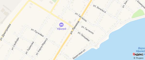 Улица Ленина на карте Верхнего Уфалея с номерами домов