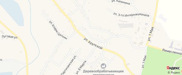Улица Сергея Лазо на карте Карабаша с номерами домов