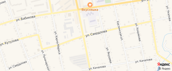 Улица Свердлова на карте Верхнего Уфалея с номерами домов