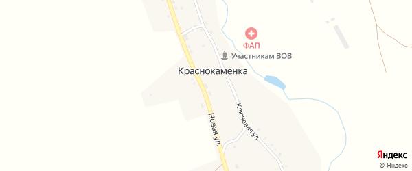 Новая улица на карте деревни Краснокаменки с номерами домов