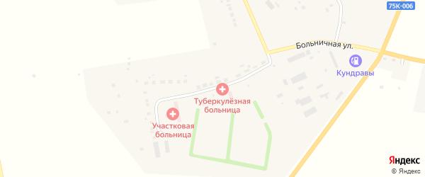 Больничная улица на карте села Кундрав с номерами домов