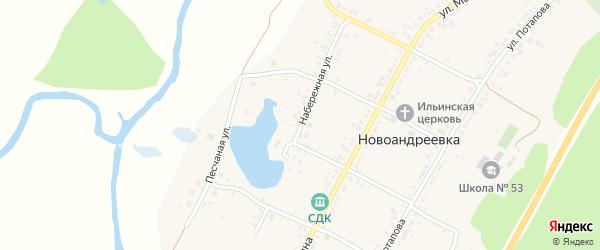 Набережная улица на карте села Новоандреевки с номерами домов