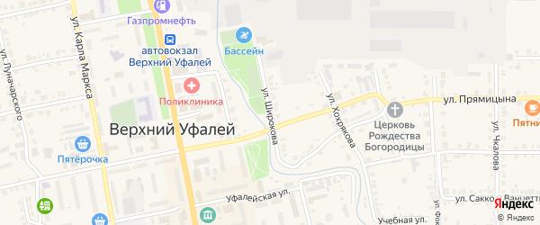 Улица Широкова на карте Верхнего Уфалея с номерами домов