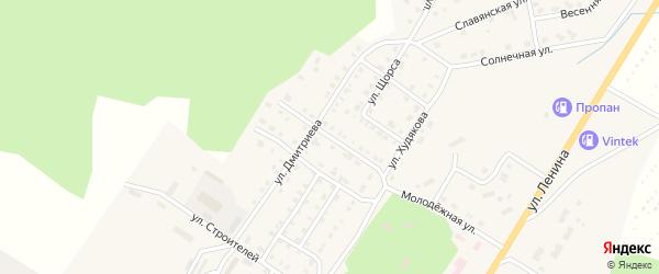 Улица Бурденко на карте Верхнего Уфалея с номерами домов