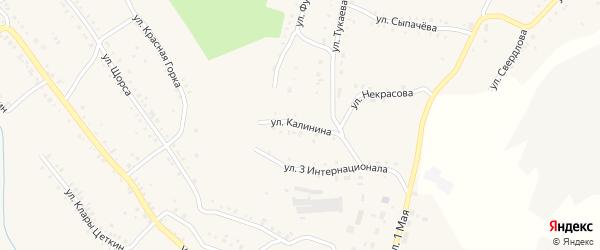Улица Калинина на карте Карабаша с номерами домов