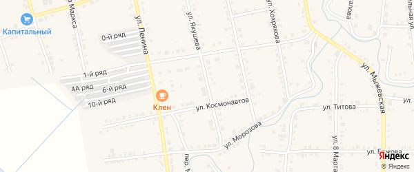 Улица Якушева на карте Верхнего Уфалея с номерами домов