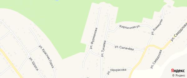 Улица Фурманова на карте Карабаша с номерами домов