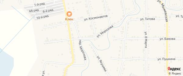 Улица Морозова на карте Верхнего Уфалея с номерами домов