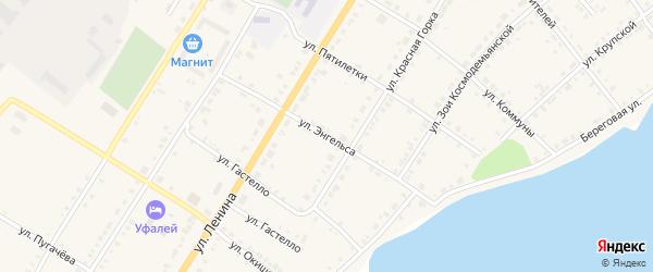 Улица Энгельса на карте Верхнего Уфалея с номерами домов