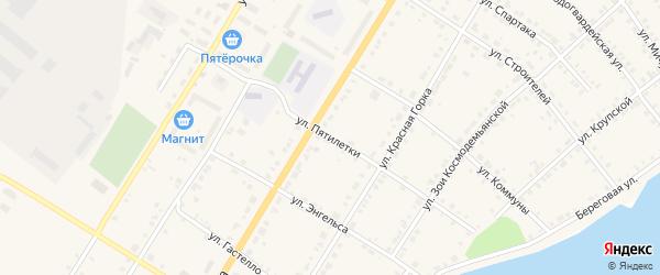 Улица Пятилетки на карте Верхнего Уфалея с номерами домов