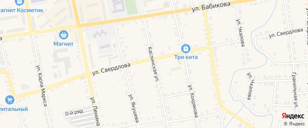 Каслинская улица на карте Верхнего Уфалея с номерами домов