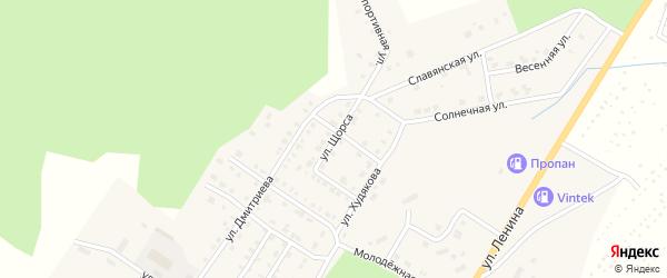 Улица Щорса на карте Верхнего Уфалея с номерами домов