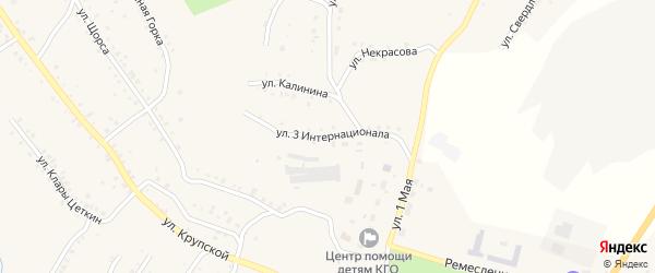 Улица 3 Интернационала на карте Карабаша с номерами домов