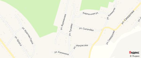 Улица Тукаева на карте Карабаша с номерами домов