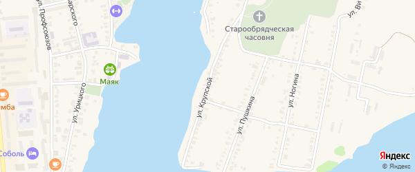Улица Крупской на карте Невьянска с номерами домов