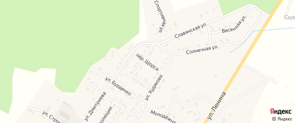 Переулок Щорса на карте Верхнего Уфалея с номерами домов