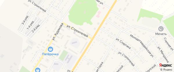 Улица Строителей на карте Верхнего Уфалея с номерами домов