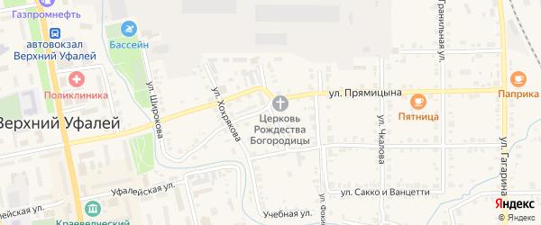 Улица Кирова на карте Верхнего Уфалея с номерами домов
