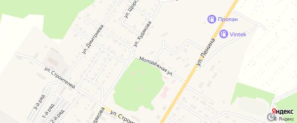 Молодежная улица на карте села Иткуля с номерами домов