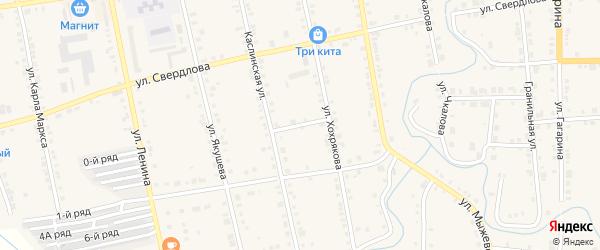 Трудовой переулок на карте Верхнего Уфалея с номерами домов