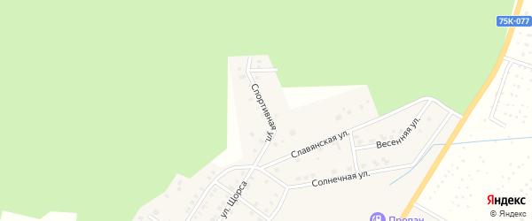 Спортивная улица на карте Верхнего Уфалея с номерами домов