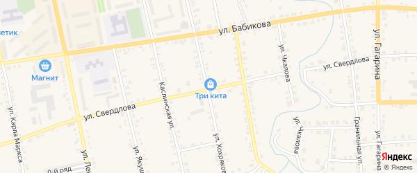 Территория ГСК Волга на карте Верхнего Уфалея с номерами домов