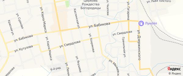 Карта поселка Половинки города Верхнего Уфалея в Челябинской области с улицами и номерами домов