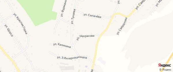 Улица Некрасова на карте Карабаша с номерами домов