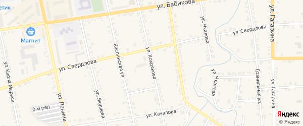 Улица Хохрякова на карте Верхнего Уфалея с номерами домов