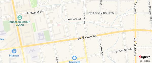 Улица Чапаева на карте Верхнего Уфалея с номерами домов