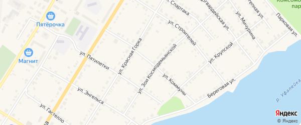 Улица Коммуны на карте Верхнего Уфалея с номерами домов