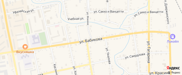 Улица Фокина на карте Верхнего Уфалея с номерами домов