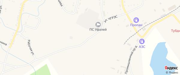 Улица ЧГРЭС на карте Верхнего Уфалея с номерами домов