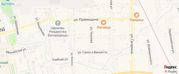 Улица Максима Горького на карте поселка Нижнего Уфалея с номерами домов