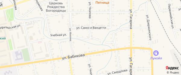 Улица Чкалова на карте Верхнего Уфалея с номерами домов