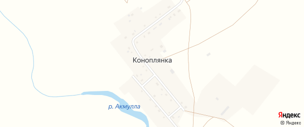 Набережная улица на карте поселка Коноплянки с номерами домов