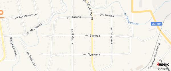Улица Бажова на карте Верхнего Уфалея с номерами домов