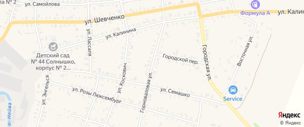 Горноваловая улица на карте Невьянска с номерами домов