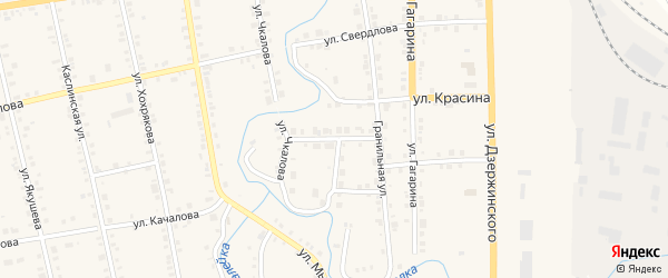 Октябрьский переулок на карте Верхнего Уфалея с номерами домов