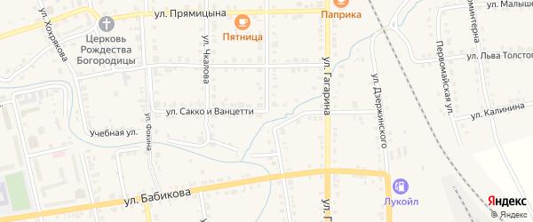 Улица Сакко и Ванцетти на карте Верхнего Уфалея с номерами домов