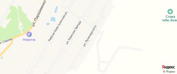 Улица Луначарского на карте Карабаша с номерами домов