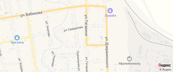 Улица Гагарина на карте Верхнего Уфалея с номерами домов