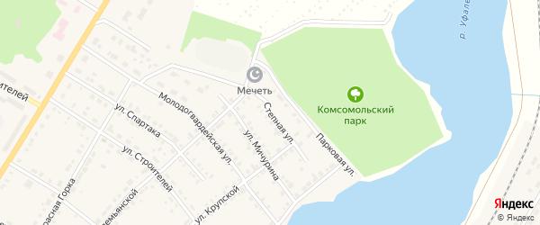 Степная улица на карте Верхнего Уфалея с номерами домов