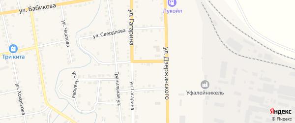 Улица Красина на карте Верхнего Уфалея с номерами домов